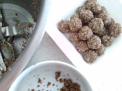 Apricot and date bliss balls (nut free)